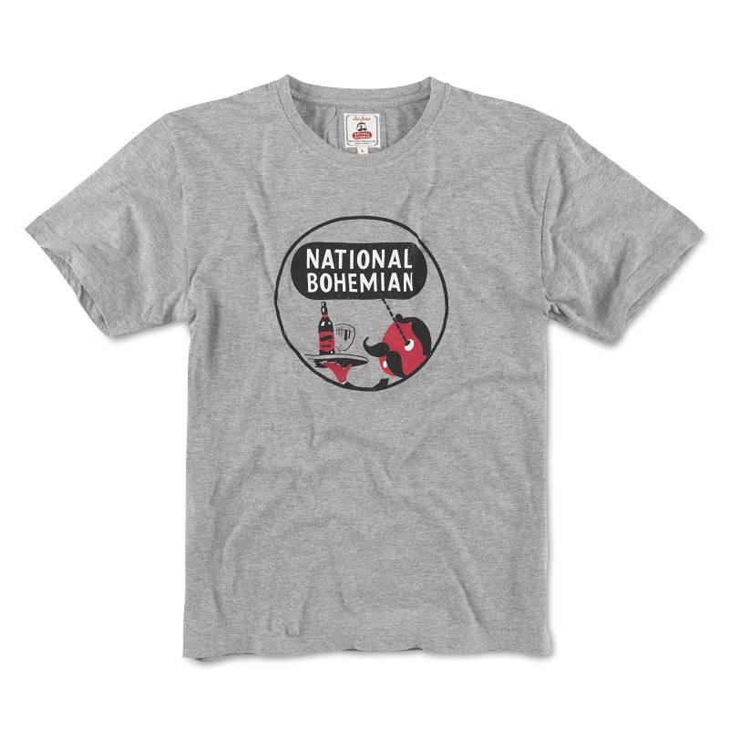 National Bohemia Beer Grey Men's Tee Shirt